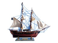 Wooden Caribbean Pirate Ship Model 26 - White Sails