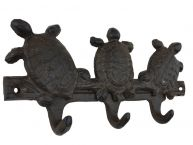 Rustic Iron Three Turtles Key Rack 8