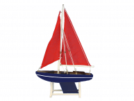 "Wooden It Floats American Sea Model Sailboat 12"" picture"