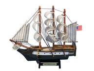 "Wooden USS Constitution Tall Model Ship 7"" picture"