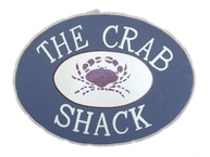 Wooden The Crab Shack Beach Sign 12