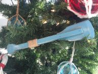 Wooden Rustic Laguna Lake Decorative Squared Boat Oar Christmas Ornament 12