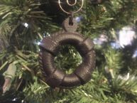 Rustic Black Cast Iron Lifering Christmas Ornament 4