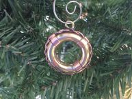 Solid Brass Lifering Christmas Ornament 4