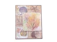 Metal Shell And Coral Nautical Wall Print 12