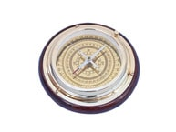 "Brass Directional Desktop Compass 6"" picture"