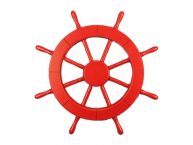 Red Decorative Ship Wheel 18