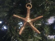 Solid Brass Starfish Christmas Ornament 5