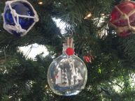 Flying Cloud Model Ship in a Glass Bottle Christmas Ornament 4