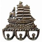 Bronze Tall Ship Key Hook 6