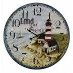 Wooden Lighthouse Land and Sea Clock 23