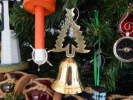 Brass Christmas Tree Bell Christmas Tree Ornament