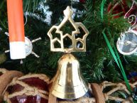 Brass Cathedral Bell Christmas Tree Ornament