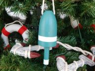 Wooden Green Lobster Trap Buoy Christmas Tree Ornament