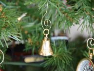 Solid Brass Bell Christmas Tree Ornament picture