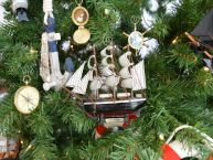 Star of India Model Ship Christmas Tree Ornament