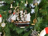 Wooden Cutty Sark Model Ship Christmas Tree Ornament picture
