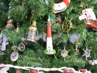Barnegat Lighthouse Christmas Tree Ornament