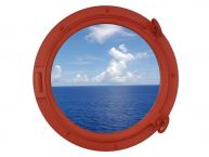 Orange Porthole Window 15