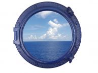 Navy Blue Decorative Ship Porthole Window 20