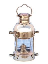 Solid Brass Anchor Oil Lantern 15