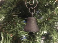 Rustic Black Cast Iron Bell Christmas Ornament 4