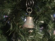Antique Bronze Cast Iron Bell Christmas Ornament 4
