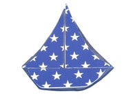 Tabletop Patriotic Blue with White Stars Sailboat 7