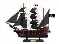 Wooden Captain Hooks Jolly Roger Black Sails Pirate Ship Model 20 from Peter Pan