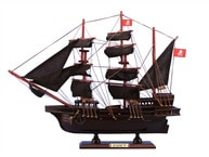 "Wooden Henry Averys The Fancy Model Pirate Ship 20"" picture"