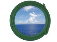 Seafoam Green Decorative Ship Porthole Window 15