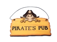 Wooden Pirates Pub Sign 8