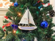 Blue Sailboat Christmas Tree Ornament 9