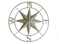 Metal Seaworn Rose Compass 27