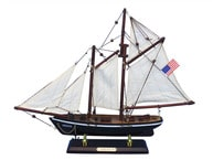 "Wooden America Model Sailboat Decoration 16"" picture"