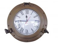 Antique Brass Decorative Ship Porthole Clock 12