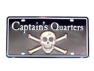 Captains Quarters License Plate 9