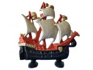 Ceramic Tall Ship Door Stop 11