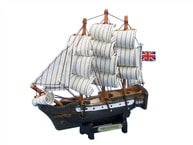 "Wooden Master And Commander HMS Surprise Tall Model Ship 7"" picture"