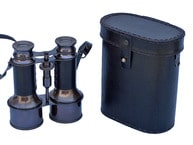 Commanders Oil-Rubbed Bronze Binoculars with Leather case 6