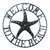 Metal Welcome To The Beach Starfish Wall Sign 26