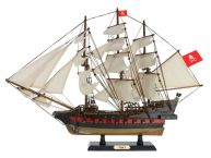 "Wooden Henry Averys Fancy White Sails Limited Model Pirate Ship 26"" picture"