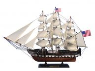 "Wooden USS Constitution Tall Model Ship 24"" picture"