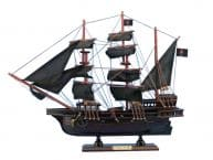 Wooden Ed Lows Rose Pink Model Pirate Ship 20