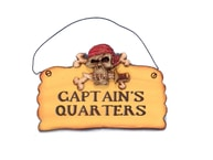 Wooden Captains Quarters Pirate Sign 8