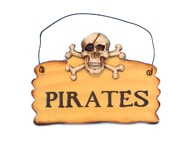 "Wooden Pirates Sign 8"" picture"