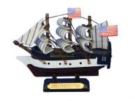 "Wooden USS Constitution Tall Model Ship 4"" picture"