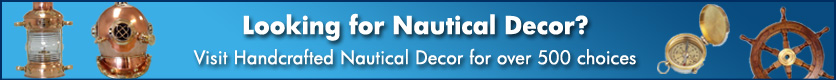 nautical banner Exclusively Featuring Hampton Nautical Solid Brass Items
