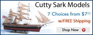 Model Cutty Sark Ship