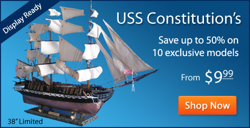 USS Constitution Model Ship